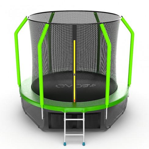 EVO JUMP Cosmo 8ft + Lower net. Батут с внутренней сеткой и лестницей, диаметр 8ft + нижняя сеть