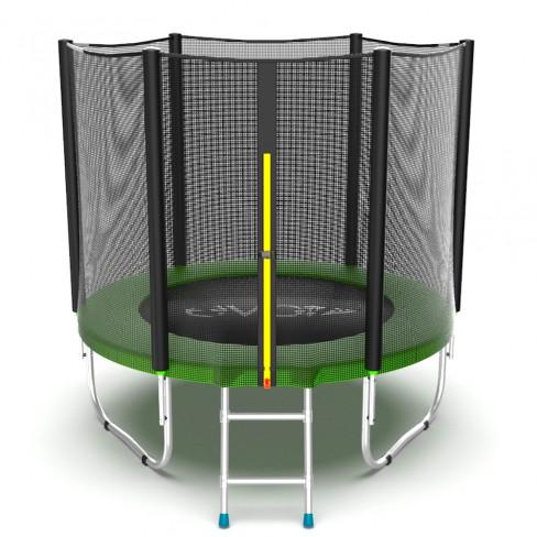 EVO Jump External 6ft Батут с внешней сеткой и лестницей, диаметр 6ft