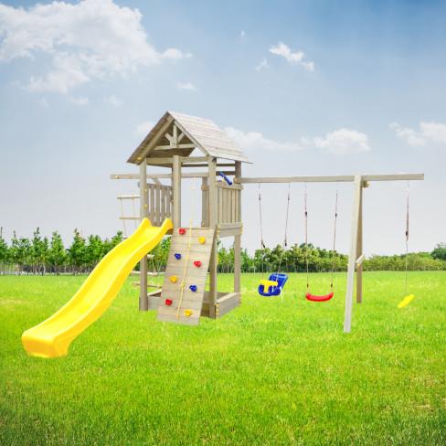 """Детская площадка """"Пикник Стандарт с деревянной крышей"""""""