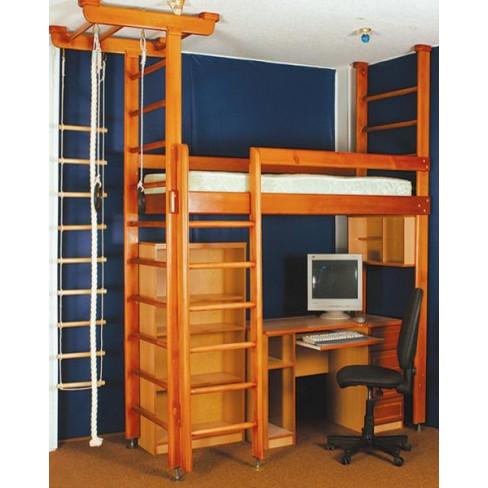 Кровать-спорткомплекс Карусель-комби-1 ( с лестницей) (МФК- 4Д.02.01)