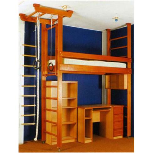 Кровать-спорткомплекс Карусель-комби-1 ( без лестницы) (МФК- 4Д.01.01)