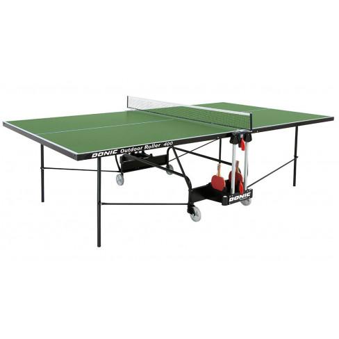 Всепогодный теннисный стол Donic Outdoor Roller 400 (зеленый)