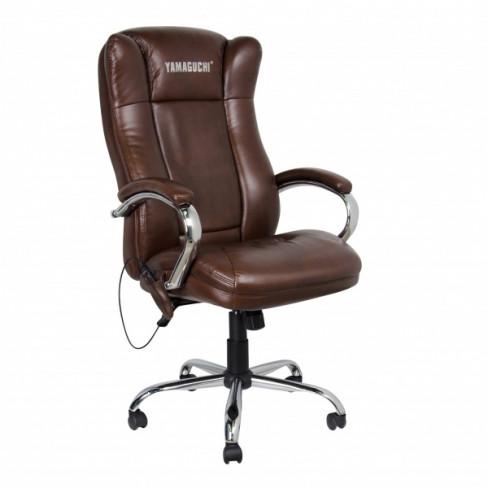 Массажное офисное кресло Yamaguchi Prestige (коричневое)