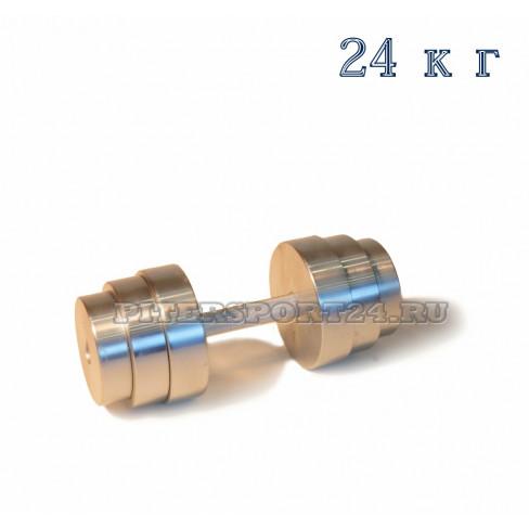 Гантели разборные оцинкованные 1 по 24 кг