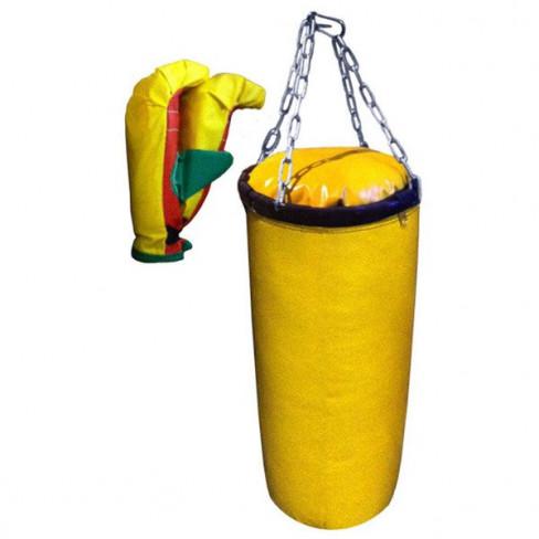 Набор боксерский для детей (3 предмета: груша+2 перчатки+Цепь)