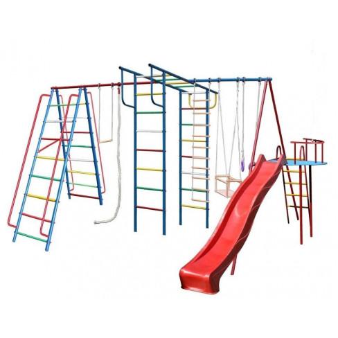 """Детский спортивный комплекс (ДСК) Вертикаль"""" макси с горкой 3,0 м с дополнением Моряк"""